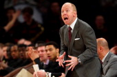 Head coach Mick Cronin of the Cincinnati Bearcats reacts as he coaches against the Georgetown Hoyas during the quaterfinals of the Big East Men's...