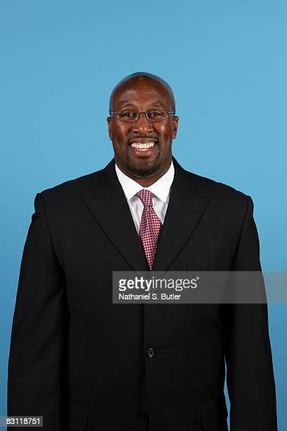 Head coach Mike Brown of the Cleveland Cavaliers poses for a portrait during NBA Media Day on September 29 2008 in Cleveland Ohio NOTE TO USER User...