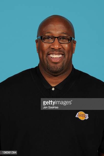 Head Coach Mike Brown of the Los Angeles Lakers poses for a photo during Media Day at Toyota Sports Center on December 11 2011 in El Segundo...