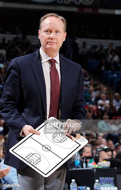 Head coach Mike Budenholzer of the Atlanta Hawks coaches against the Sacramento Kings on March 16 2015 at Sleep Train Arena in Sacramento California...