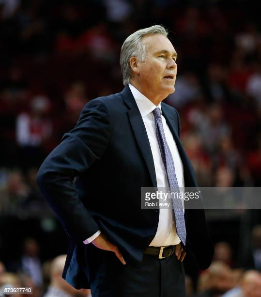 Head coach Mike D'Antoni of the Houston Rockets at Toyota Center on October 23 2017 in Houston Texas NOTE TO USER User expressly acknowledges and...