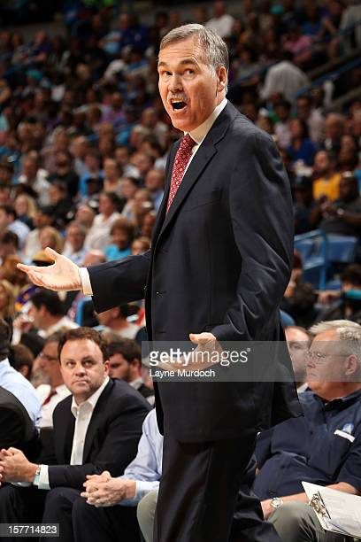 Head Coach Mike D'Antoni of the Los Angeles Lakers during the game between the New Orleans Hornets and the Los Angeles Lakers on December 5 2012 at...
