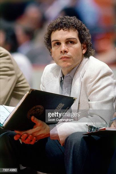 Head coach Mike Fratello of the Atlanta Hawks looks on from the bench during a game played in 1982 at the Omni in Atlanta Georgia NOTE TO USER User...