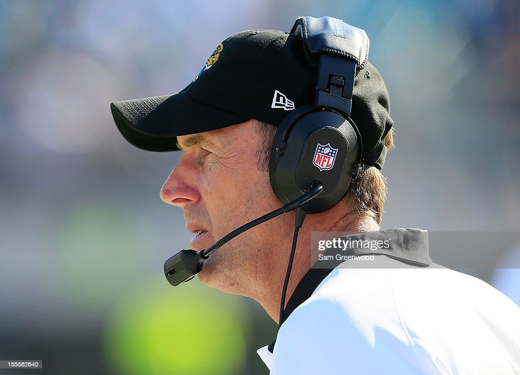 Head coach Mike Mularkey of the Jacksonville Jaguars watches the action during the game against the Detroit Lions at EverBank Field on November 4, 2012 in Jacksonville, Florida.