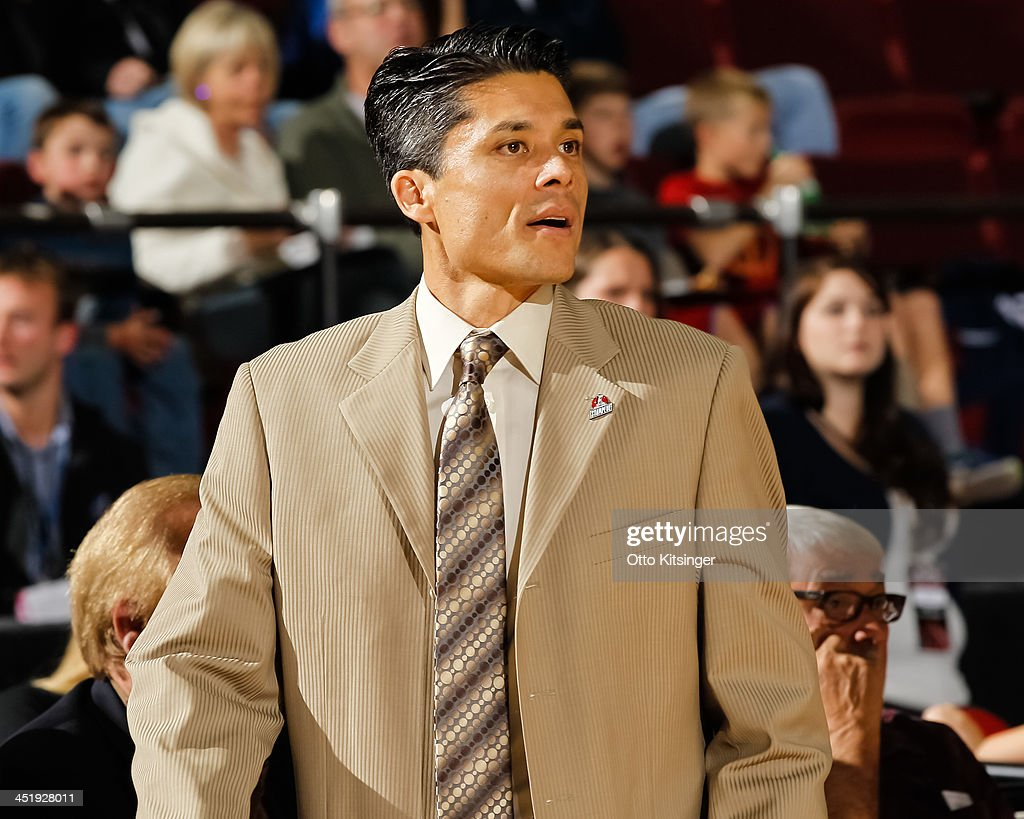 Head Coach Mike Peck of the Idaho Stampede watches the action during an NBA D-League game against the Bakersfield Jam on November 22, 2013 at CenturyLink Arena in Boise, Idaho.
