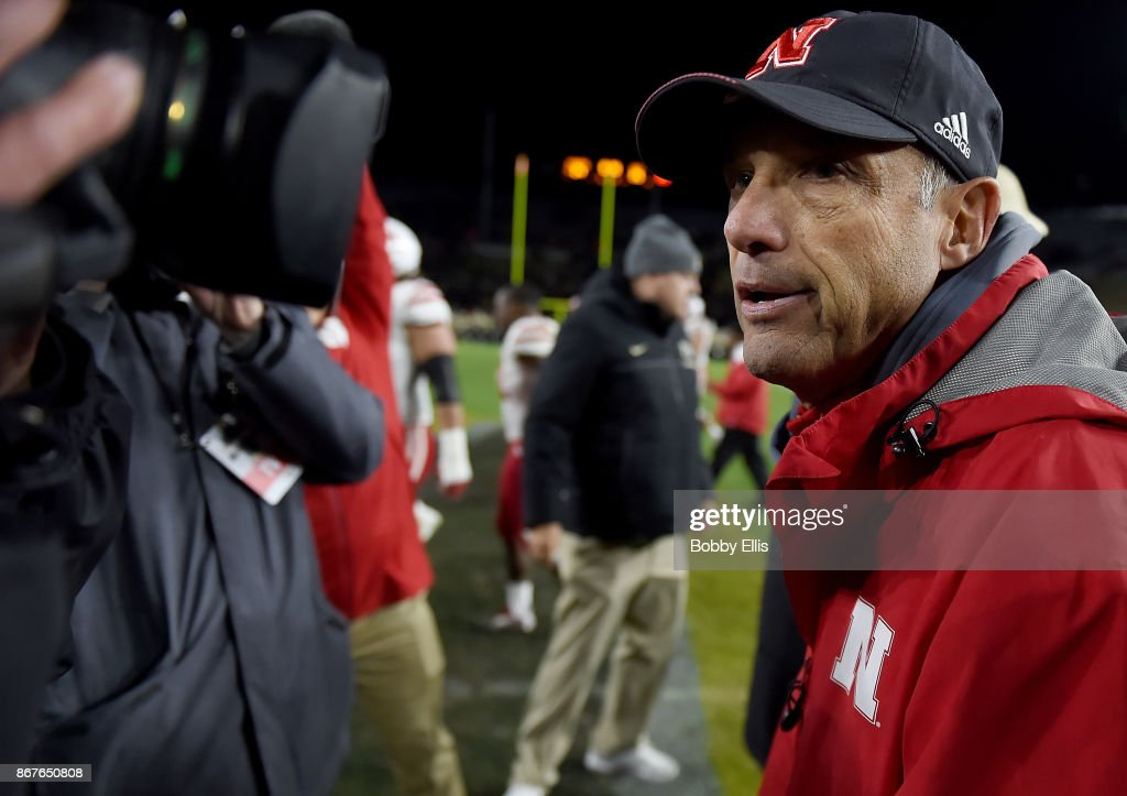 Head coach Mike Riley of the Nebraska Cornhuskers walks off the field after the game between the Purdue Boilermakers and the Nebraska Cornhuskers at Ross-Ade Stadium on October 28, 2017 in West Lafayette, Indiana.