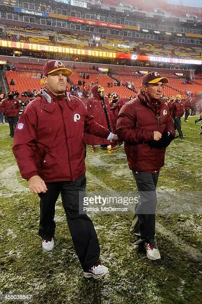 Head coach Mike Shanahan of the Washington Redskins walks onto the field after the Kansas City Chiefs defeated the Washington Redskins 4510 during an...