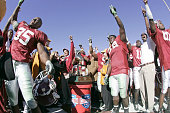 Head coach MIke Shula and members of the Alabama Crimson Tide celebrate after a 1310 victory over the Texas Tech Red Raiders at the AT T Cotton Bowl...