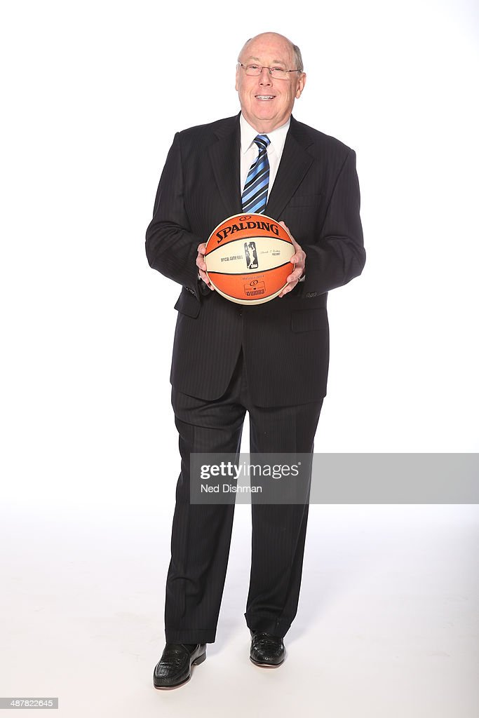 Head Coach <a gi-track='captionPersonalityLinkClicked' href=/galleries/search?phrase=Mike+Thibault&family=editorial&specificpeople=544624 ng-click='$event.stopPropagation()'>Mike Thibault</a> of the Washington Mystics poses for a photo during 2014 Washington Mystics media day at the Verizon Center on April 28, 2014 in Washington D.C.