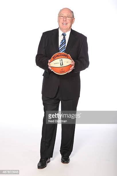 Head Coach Mike Thibault of the Washington Mystics poses for a photo during 2014 Washington Mystics media day at the Verizon Center on April 28 2014...