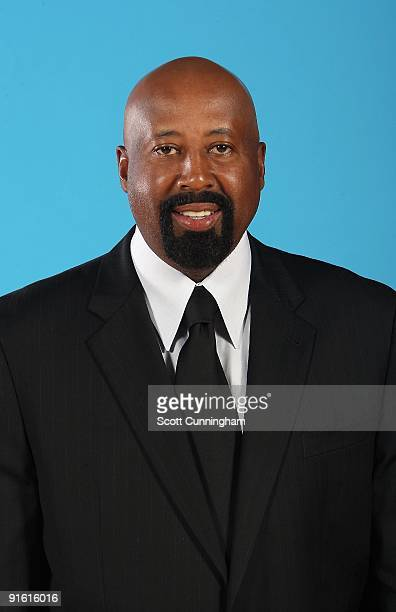 Head coach Mike Woodson of the Atlanta Hawks poses for a portrait during 2009 NBA Media Day on September 28 2009 at Philips Arena in Atlanta Georgia...