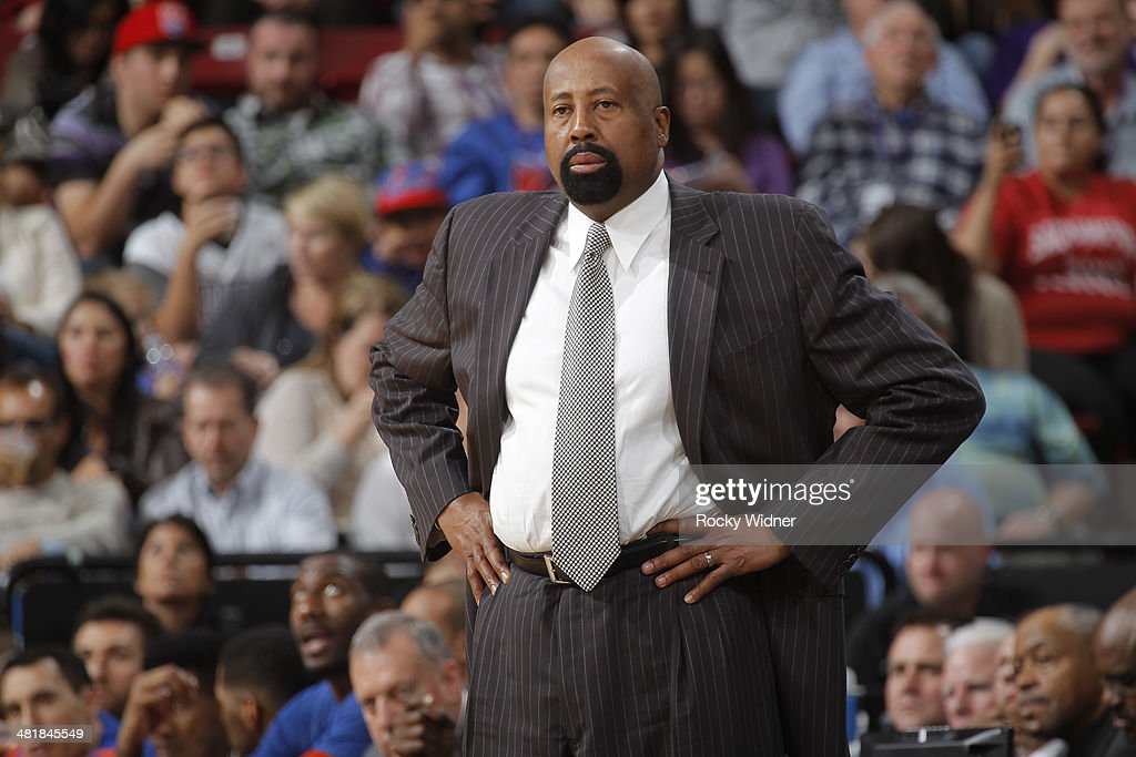 Head Coach Mike Woodson of the New York Knicks coaches against the Sacramento Kings on March 26 2014 at Sleep Train Arena in Sacramento California...