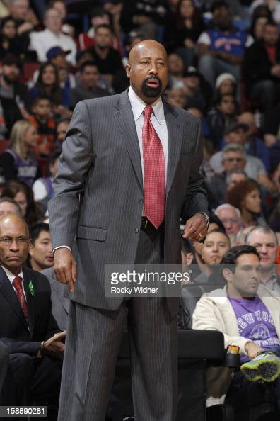 Head coach Mike Woodson of the New York Knicks in a game against the Sacramento Kings on December 28 2012 at Sleep Train Arena in Sacramento...