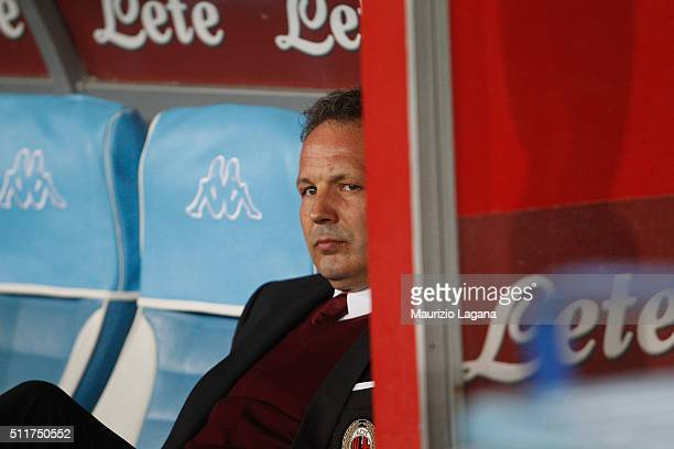 Head coach Milan Sinisa Mihajlovic during the Serie A between SSC Napoli and AC Milan at Stadio San Paolo on February 22 2016 in Naples Italy