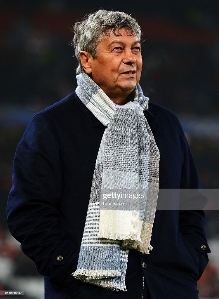 Head coach Mircea Lucescu of Donetsk looks on prior to the UEFA Champions League Round of 16 first leg match between Shakhtar Donetsk and Borussia Dortmund at Donbass Arena on February 13, 2013 in Donetsk, Ukraine.