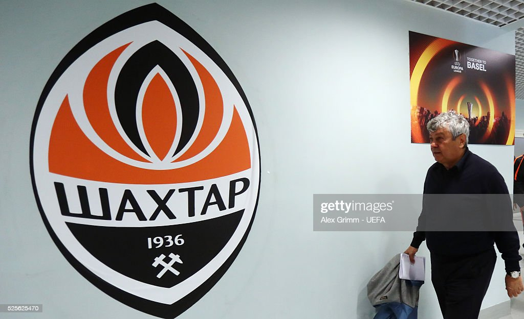Head coach Mircea Lucescu of Shakhtar arrives for the UEFA Europa League Semi Final first leg match between Shakhtar Donetsk and Sevilla at Arena Lviv on April 28, 2016 in Lviv, Ukraine.