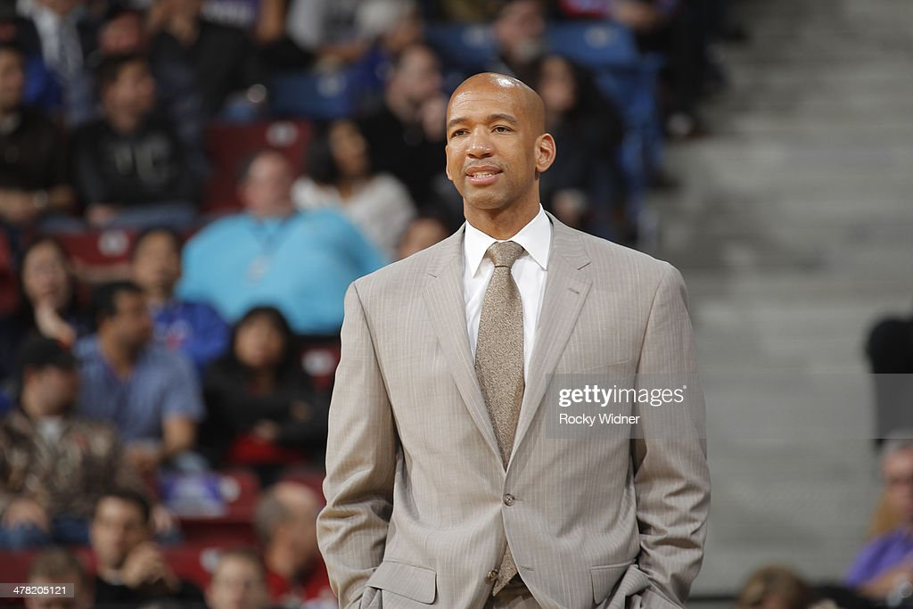 Head Coach Monty Williams of the New Orleans Pelicans coaches against the Sacramento Kings on March 3 2014 at Sleep Train Arena in Sacramento...