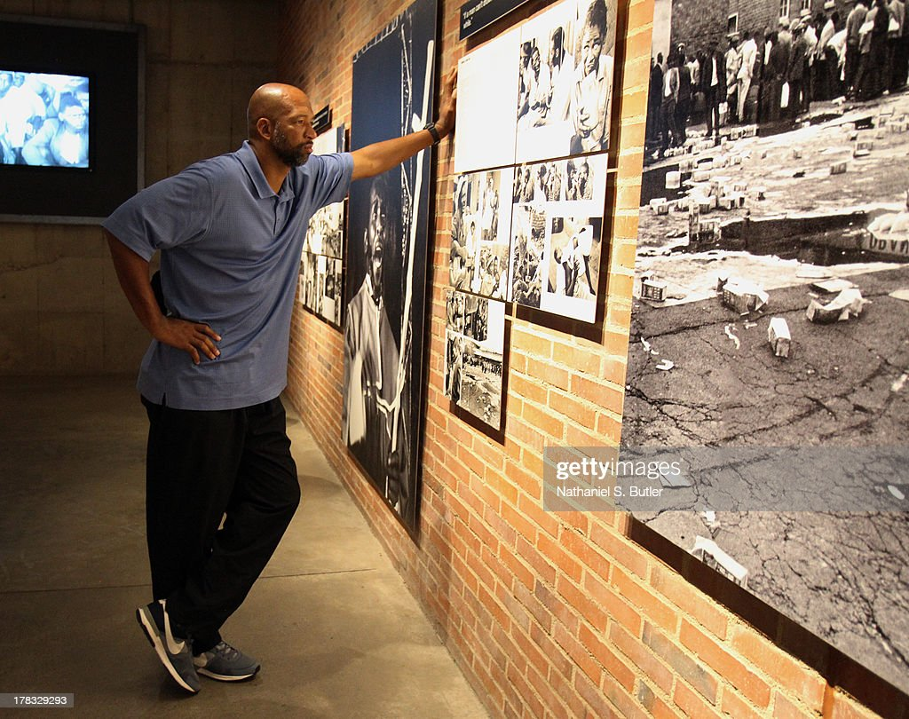 Head Coach Monty Williams of the New Orleans Pelicans during the Basketball Without Boarders visit to the Apartheid Museum in Johannesburg, South Africa.