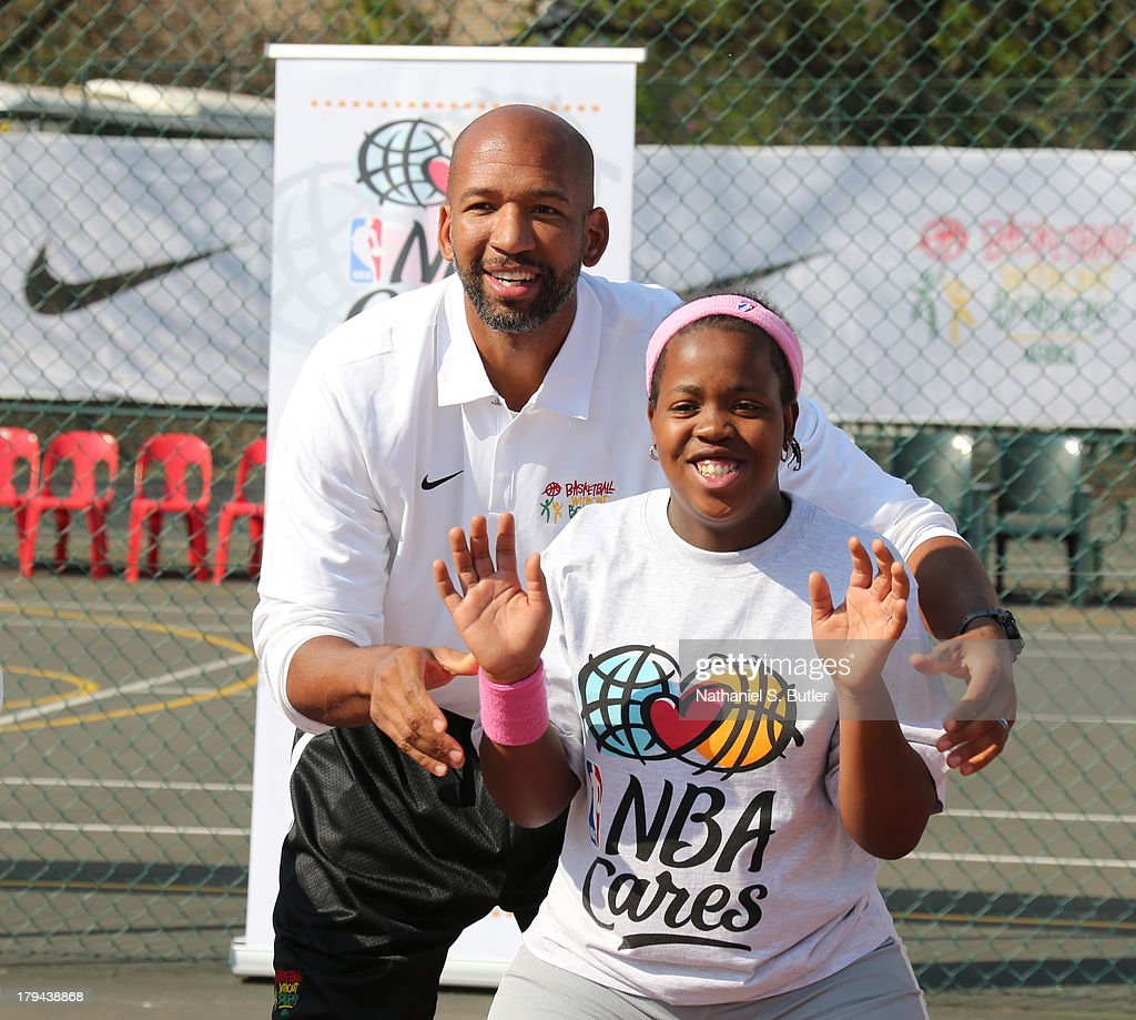 Head Coach Monty Williams of the New Orleans Pelicans during the Special Olympics Clinic presented by Coca-Cola during the Basketball Without Boarders program in Johannesburg, South Africa.