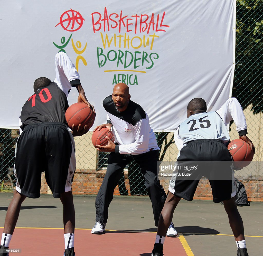 Head Coach Monty Williams of the New Orleans Pelicans during the Basketball Without Boarders program in Johannesburg, South Africa.