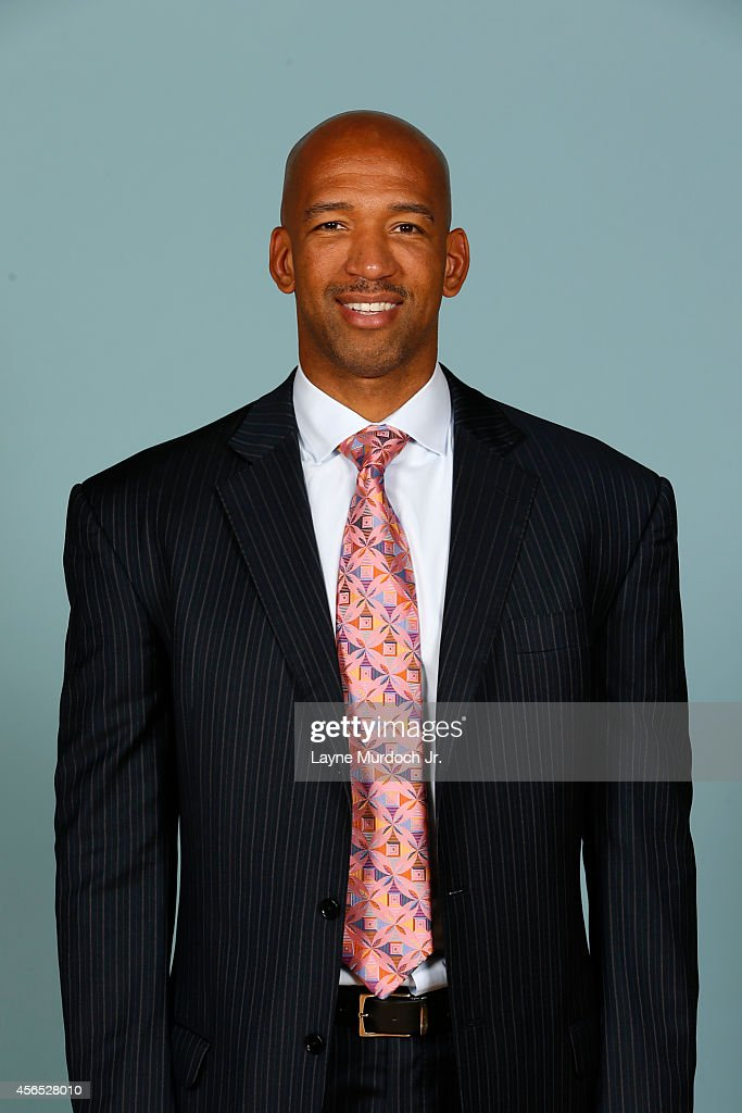 Head coach Monty Williams of the New Orleans Pelicans poses for photos during NBA Media Day on September 29 2014 at the New Orleans Pelicans practice...
