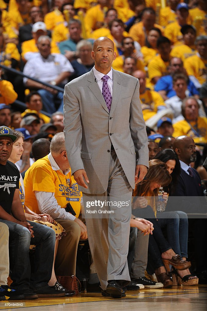 Head coach Monty Williams of the New Orleans Pelicans while facing the Golden State Warriors in Game Two of the Western Conference Quarterfinals...