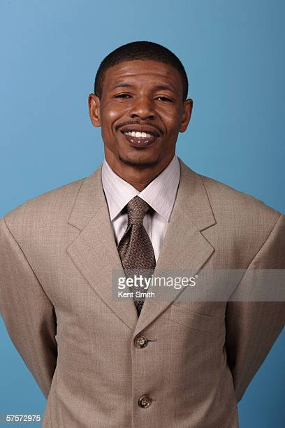 Head coach Muggsy Bogues of the Charlotte Sting poses for a portrait during Media Day on April 24 2006 at the Charlotte Bobcats Arena in Charlotte...