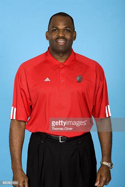 Head coach Nate McMillan of the Portland Trail Blazers poses for a portrait during NBA Media Day on September 29 2008 at the Rose Garden in Portland...