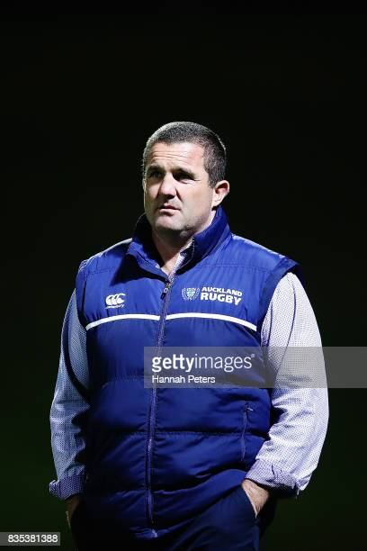 Head coach Nick White of Auckland looks on ahead of the round one Mitre 10 Cup match between Counties Manukau and Auckland at ECOLight Stadium on...
