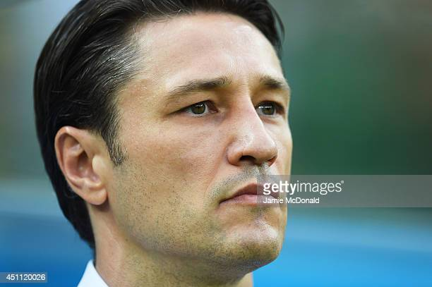 Head coach Niko Kovac of Croatia looks on during the 2014 FIFA World Cup Brazil Group A match between Croatia and Mexico at Arena Pernambuco on June...