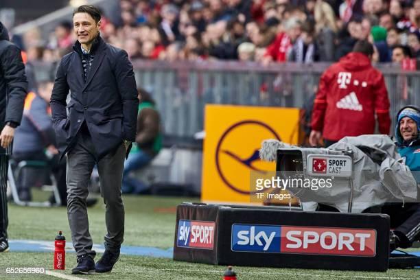 Head coach Niko Kovac of Frankfurt looks on during the Bundesliga match between Bayern Muenchen and Eintracht Frankfurt at Allianz Arena on March 11...