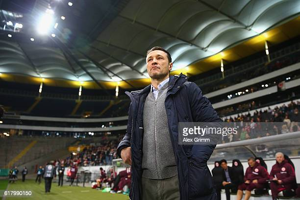 Head coach Niko Kovac of Frankfurt looks on prior to the DFB Cup Second Round match between Eintracht Frankfurt and FC Ingolstadt at CommerzbankArena...