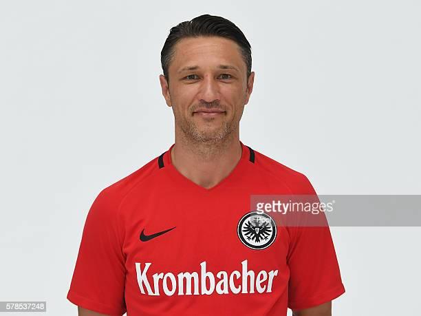 Head coach Niko Kovac poses during the Eintracht Frankfurt Team Presentation on July 21 2016 in Frankfurt am Main Germany