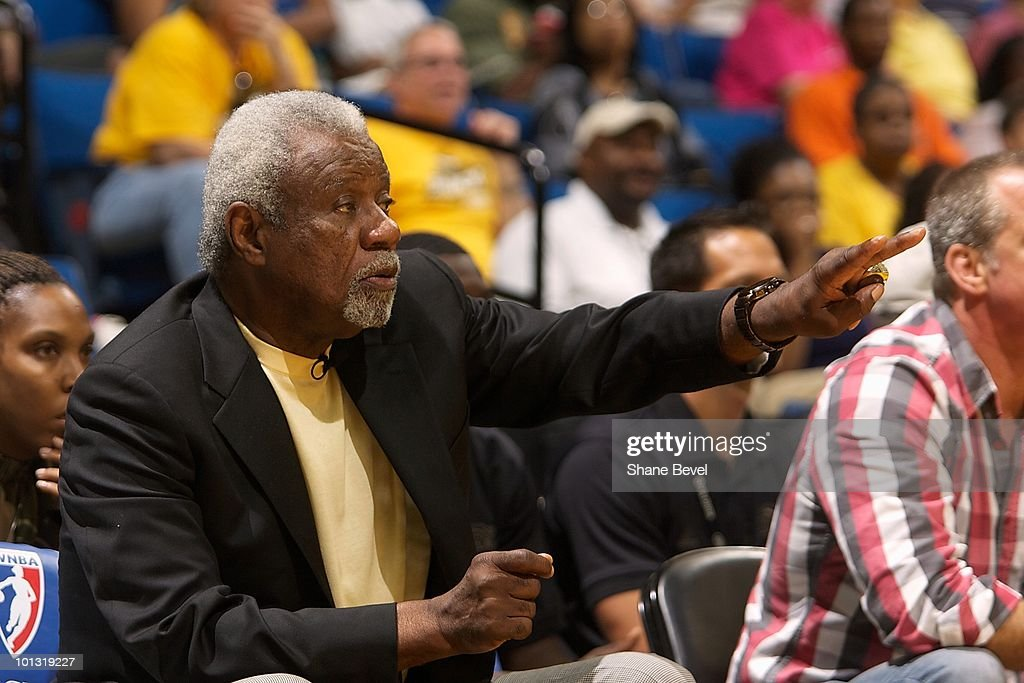 Head coach Nolan Richardson of the Tulsa Shock gestures from the sideline during the WNBA game against the Phoenix Mercury on May 25, 2010 at the BOK Center in Tulsa, Oklahoma. The Mercury won 110-96.