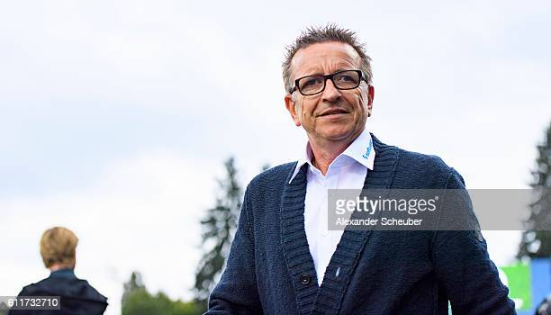 Head coach Norbert Meier of Darmstadt is seen during the Bundesliga match between SV Darmstadt 98 and Werder Bremen at Stadion am Boellenfalltor on...
