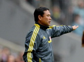 head coach Norio Sasaki of Japan gestures during the Women's International Friendly match between Germany and Japan at Allianz Arena on June 29 2013...