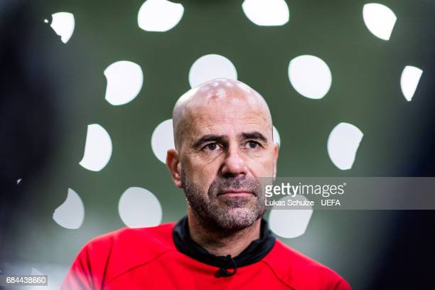 Head Coach of Ajax Peter Bosz speaks during the Ajax Media Day on May 18 2017 in Amsterdam Netherlands