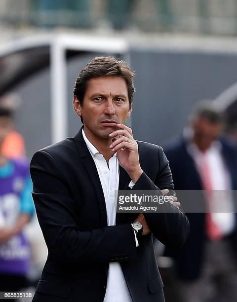 Head coach of Antalyaspor Leonardo looks on during the 4th round of the Ziraat Turkish Cup soccer match between Etimesgut Belediyespor and...