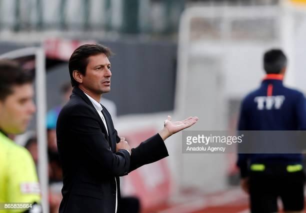 Head coach of Antalyaspor Leonardo reacts during the 4th round of the Ziraat Turkish Cup soccer match between Etimesgut Belediyespor and Antalyaspor...