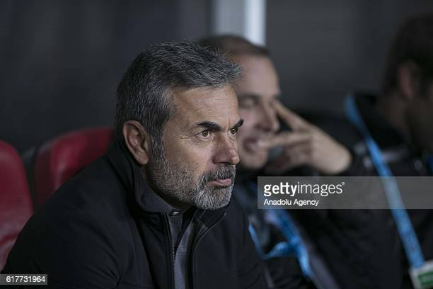 Head Coach of Atiker Konyaspor Aykut Kocaman is seen during Turkish Spor Toto Super Lig match between Atiker Konyaspor and Fenerbahce at Torku Arena...