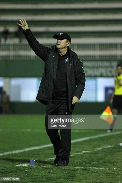 Head coach of Atletico MG Levir Culpi during a match between Chapecoense and Atletico MG for the Brazilian Series A 2014 at Arena Conda on August 6...