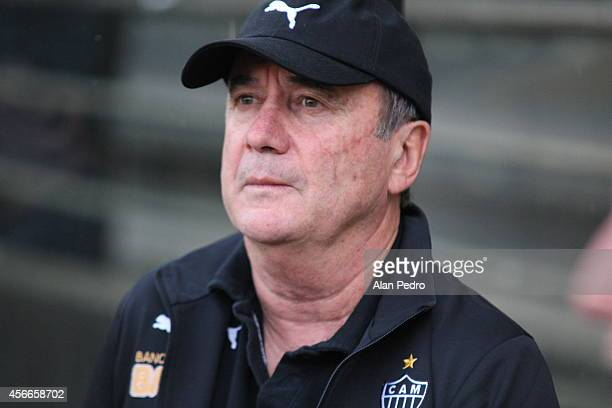 Head coach of Atletico MG Levir Culpi during a match between Criciuma and Atletico MG for the Brazilian Series A 2014 at Heriberto Hulse Stadium on...