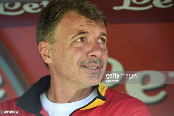 Head coach of Benevento Calcio Marco Baroni during the Serie A TIM match between SSC Napoli and Benevento Calcio at Stadio San Paolo Naples Italy on...