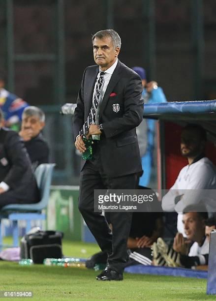 Head coach of Besiktas Senol Gunes during the UEFA Champions League match between SSC Napoli and Besiktas JK at Stadio San Paolo on October 19 2016...