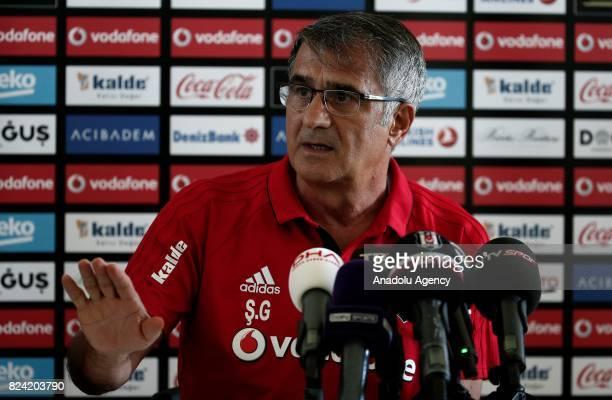 Head coach of Besiktas Senol Gunes holds a press conference at Marbella Football Center after Besiktas' training session in Marbella Spain on July 29...