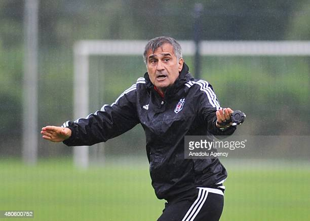 Head coach of Besiktas Senol Gunes is seen during a training session of the club in the Marienfeld district of Harsewinkel in Germany on July 13 2015