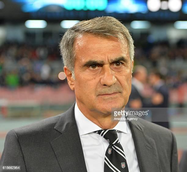 Head Coach of Besiktas Senol Gunes is seen during the UEFA Champions League group B soccer match between Napoli and Besiktas at the San Paolo stadium...