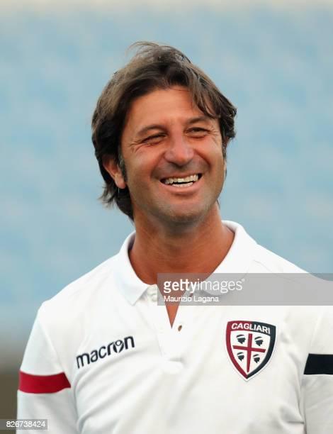 Head coach of Cagliari Massimo Rastelli during the PreSeason Friendly match between FC Crotone and Cagliari Calcio at Stadio Comunale Ezio Scida on...