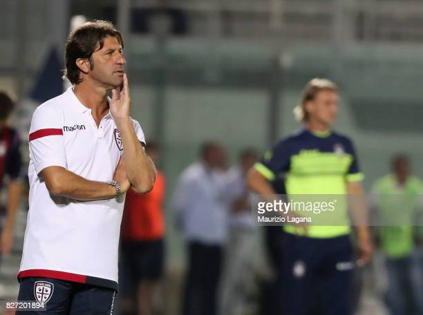 Head coach of Cagliari Massimo Rastelli looks on during the PreSeason Friendly match between FC Crotone and Cagliari Calcio at Stadio Comunale Ezio...