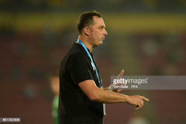 Head coach of Chile Hernan Caputto gives instructions during the FIFA U17 World Cup India 2017 group E match between Mexico and Chile at Indira...